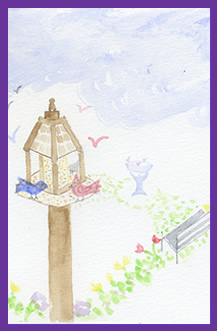 Birdhouse-dance-blossom-spring-greeting-card-by-artist-pattie-welek-hall