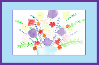 Flower-bouquet-Thank-You-Card-greeting-card-by-artist-pattie-welek-hall